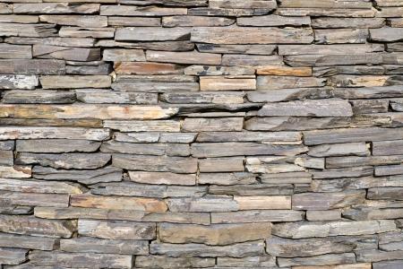 fortified wall: pattern of decorative slate stone wall surface