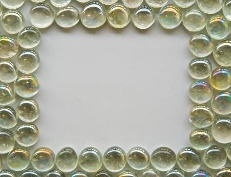 decorative bubble glass pattern on white background photo