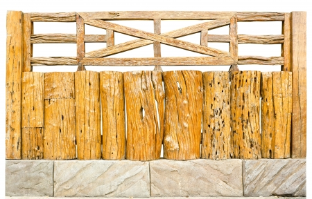 decorative old wooden fence in a garden Stock Photo - 14732726