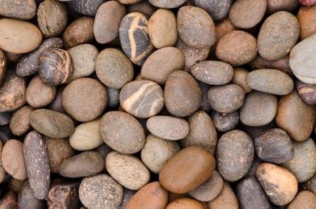 decorative floor pattern of a gravel stone photo