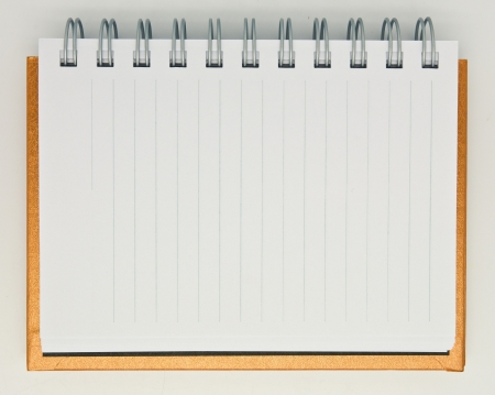 open notebook isolated on white background photo