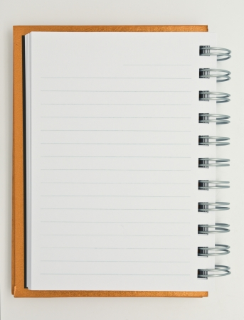 diary page: open notebook isolated on white background Stock Photo