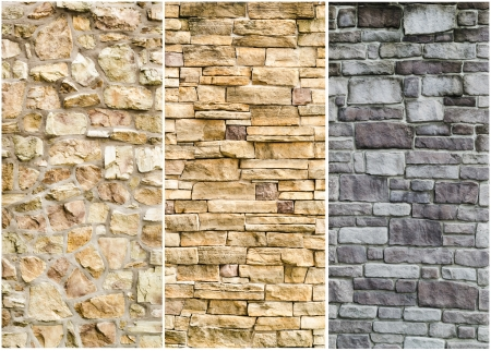 pattern gray color of modern style  design decorative  cracked real stone wall surface with cement photo