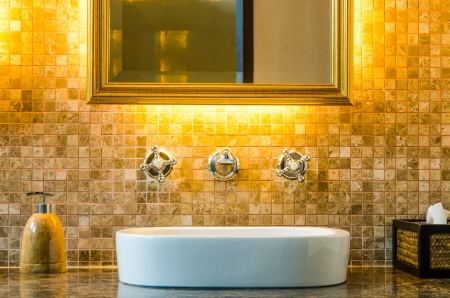 Modern style interior design of a bathroom Stock Photo - 15513301