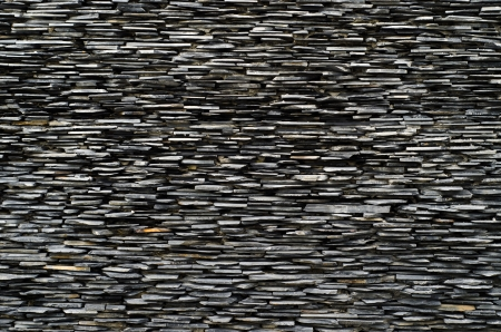 slate texture: cross section pattern of decorative slate stone wall surface