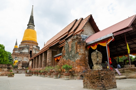 old  temple at Ayutthaya, Thailand   photo
