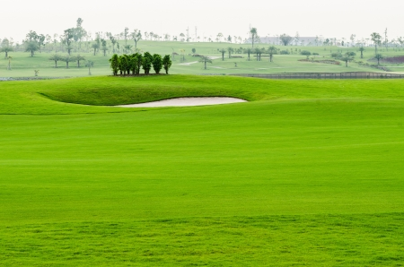 view landscape of golf course at Thailand Stockfoto