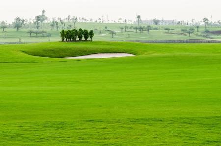 view landscape of golf course at Thailand Archivio Fotografico