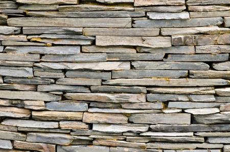 cladding: pattern of decorative slate stone wall surface