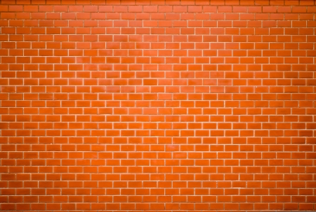 Decorative red brick wall texture in horizontal view Stock Photo - 16030233