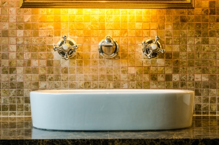 Modern style interior design of a bathroom