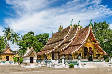 mekong: Wat Xieng thong temple,Luang Pra bang, Laos Stock Photo