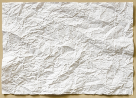 background of white textured sheet of paper crumpled  part for write Stock Photo - 22681346