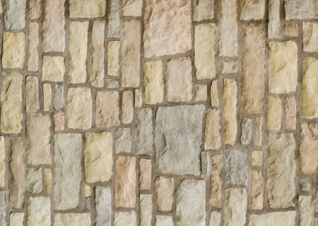 Pattern Vintage Color Texture of Modern Style Design Decorative Uneven Cracked Real Stone Wall Surface with Cement for Construction Work photo