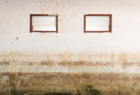 seepage: Abstract Texture of water level stain pattern after flood on wall house  Stock Photo
