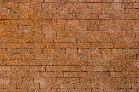 pattern red color of modern style design decorative laterite stone wall surface with cement photo