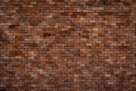 bulwark: background of decorative brick wall texture in horizontal view