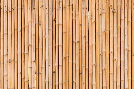 close up decorative old bamboo wood of fence wall background photo
