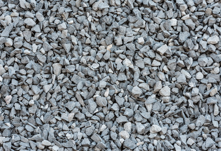 black stone: close up grey granite gravel background for mix concrete in construction industrial