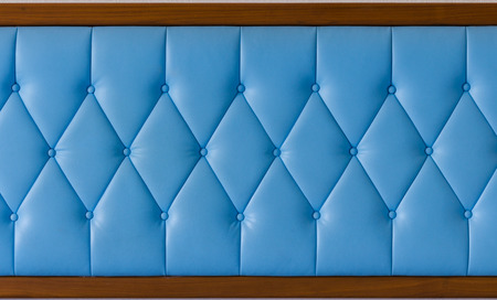 luxury classic leather texture, background of blue sofa photo