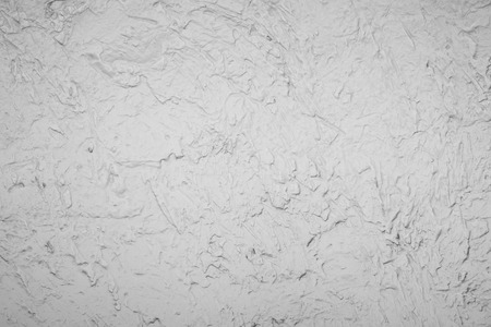 Background Of White Decoration Cement Wall In Brush Cement Method Photo