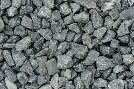 close up grey granite gravel background for mix concrete in construction industrial photo