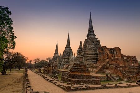 Old Temple Architecture , Wat Phra si sanphet at Ayutthaya, Thailand