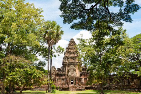 realm: View of the historic Prasat Hin Phimai Castle at Nakhon Ratchasima, Thailand. The Khmer Castle were built during the Angkor period and marked the northern reaches of the realm. Stock Photo