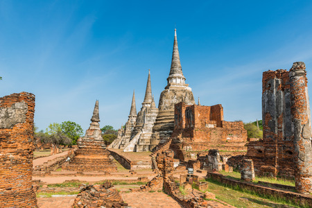Old Temple Architecture , Wat Phra si sanphet at Ayutthaya, Thailand photo