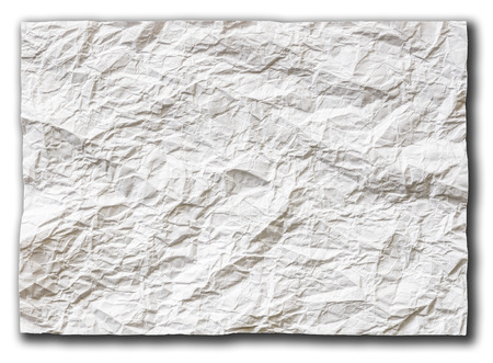 crinkly: background of white textured sheet of paper folded in sixteen  part for write