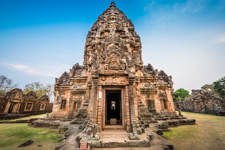 rung: Phanom Rung historical park is Castle Rock old Architecture about a thousand years ago at Buriram Province,Thailand