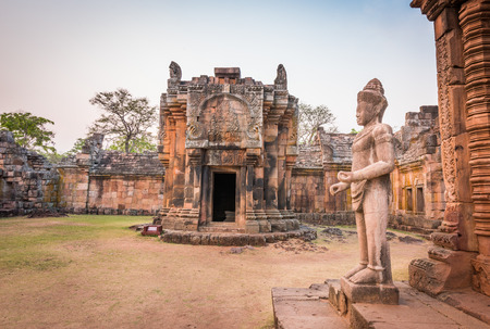 castle rock: Phanom Rung historical park is Castle Rock old Architecture about a thousand years ago at Buriram Province,Thailand