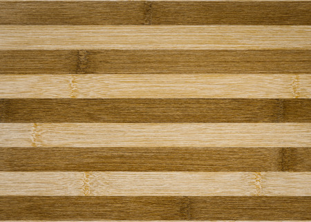fence: close up background of decorative bamboo wood  texture in strip line Stock Photo