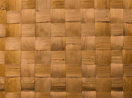 wicker bar: background and texture of brown handicraft weave banana fiber surface Stock Photo