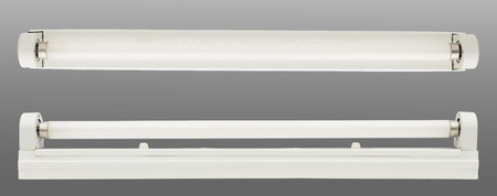 close up of a fluorescent tube on white background Stock Photo