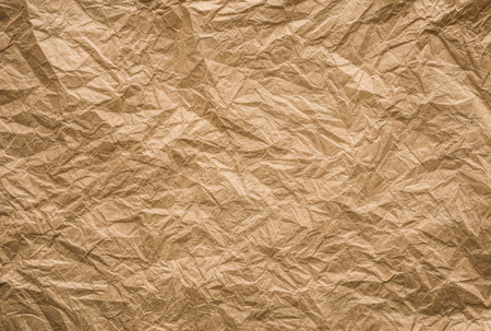 background and texture of brown crumpled paper
