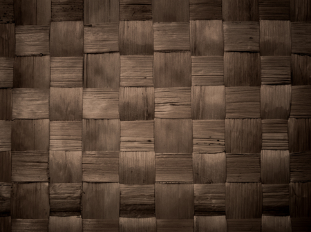 background and texture of brown handicraft weave banana fiber surface Stock Photo