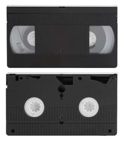 superseded: Old video cassette Tape Isolated on white background