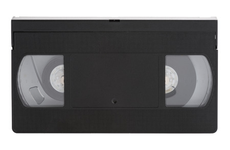 superseded: Old vhs video cassette Tape Isolated on white background Stock Photo