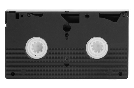 video cassette tape: Old vhs video cassette Tape Isolated on white background Stock Photo