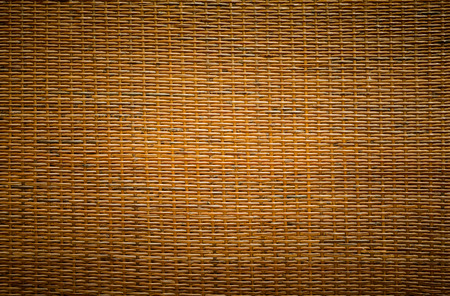wicker bar: traditional thai style pattern nature background of brown handicraft weave texture wicker surface for furniture material