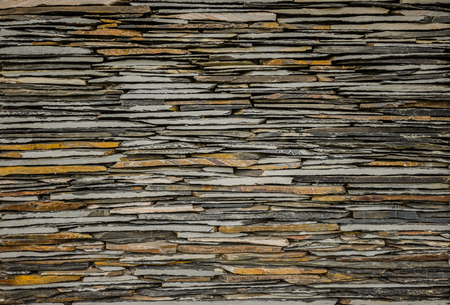 decorative wall: background and texture of decorative slate stone wall surface Stock Photo