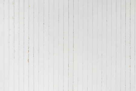 background and texture of decorative detail old white wood stripe on surface wall