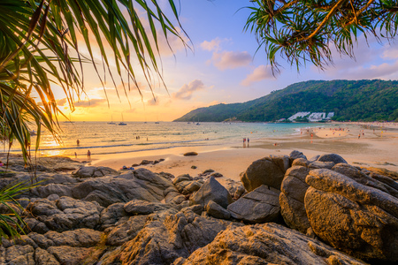 Landscape from Phuket View Point at Nai Harn Beach Located in Phuket Province, Thailand.