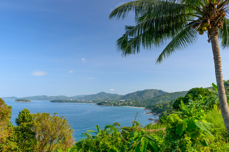 Landscape from Phuket View Point, Karon Beach, Kata Beach, Patong Beach, Taken from Karon Viewpoint. Located in Phuket Province, Thailand.