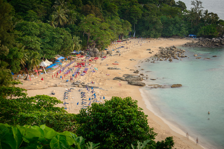 Landscape from Phuket View Point at Leam Sing Beach Located in Phuket Province, Thailand.