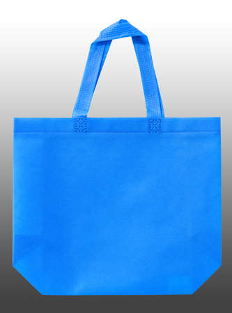 blue color of cloth shopping bag isolated on black and white guardian background Stock fotó