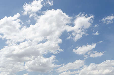 background and texture of abstract beautiful blue sky with white clouds in nature