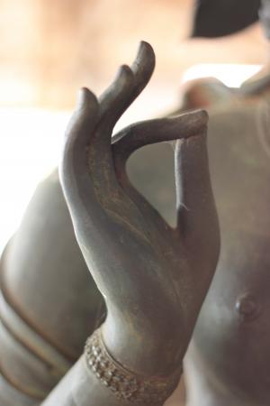 buddha image: mano de Buda imagen Foto de archivo