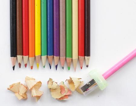 Colored pencil. Stock Photo